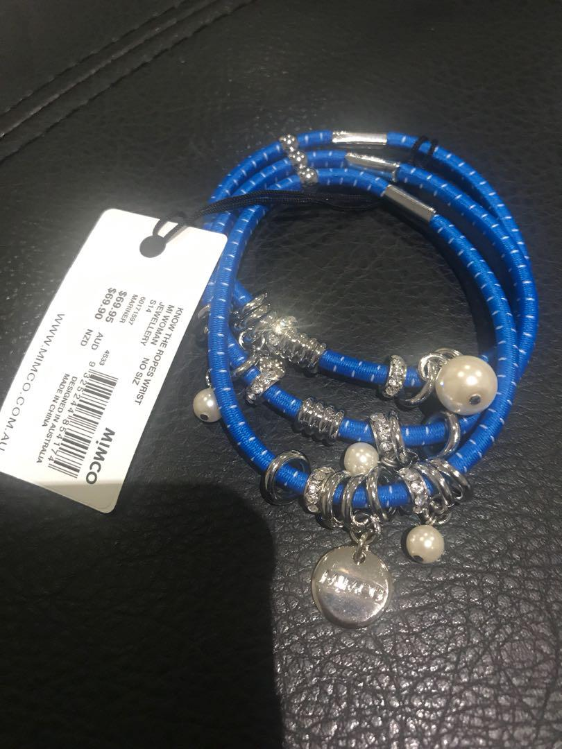 Mimco Blue- Know the Ropes Wrist