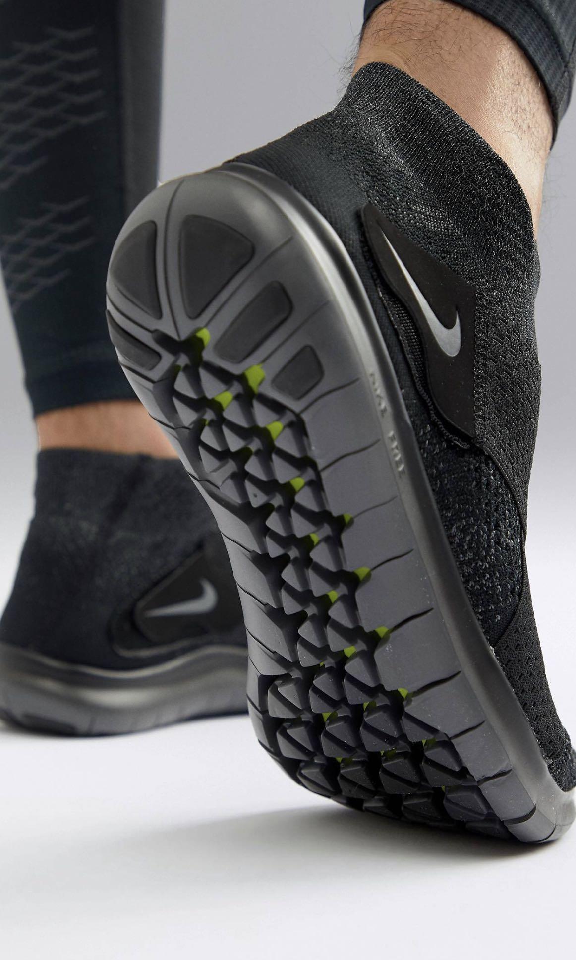 b5922ae6d7e7 Nike Running Free Run Motion Flyknit 2017 TripleBlack