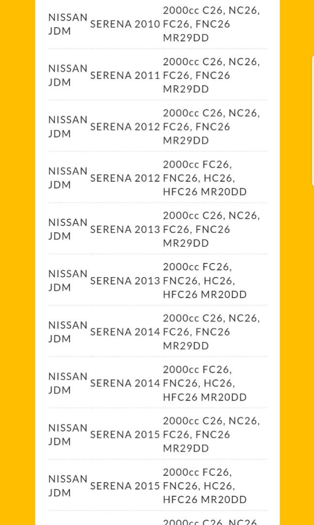 Nissan X-Trail T32 / Nissan Serena (2.0A) stock spark plug
