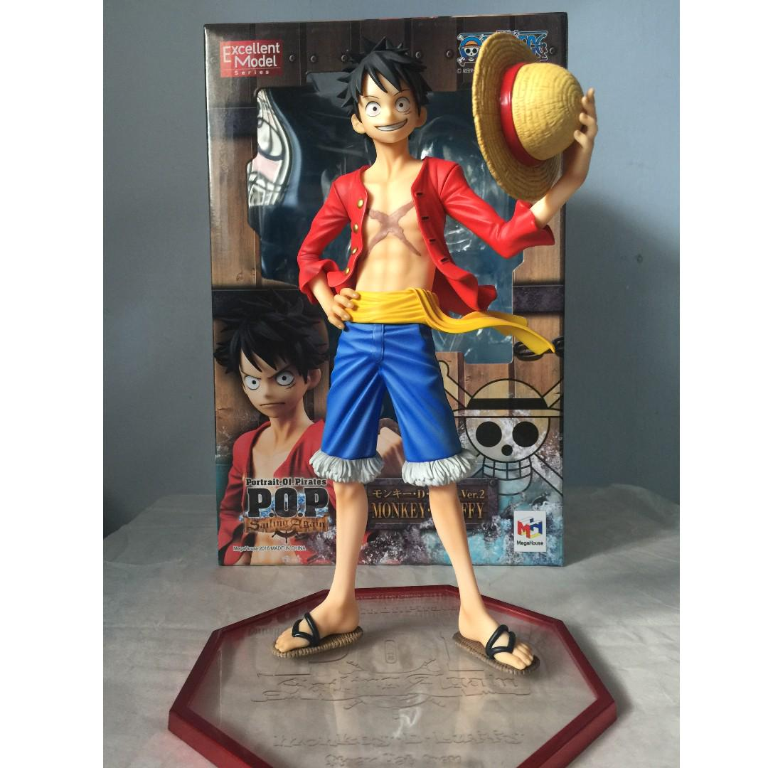 USED P.O.P Portrait Of Pirates One Piece Sailing Again Monkey D Luffy Megahouse