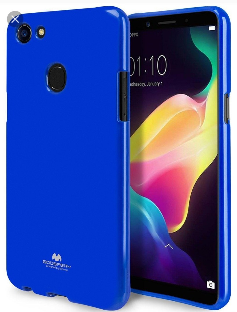 Oppo A73 A75 A75s F5 Mobiles Tablets Mobile Tablet Mercury Jelly Case F1s Blue Photo