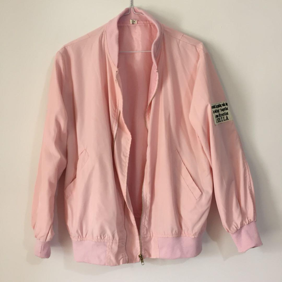 Pink bomber with patch