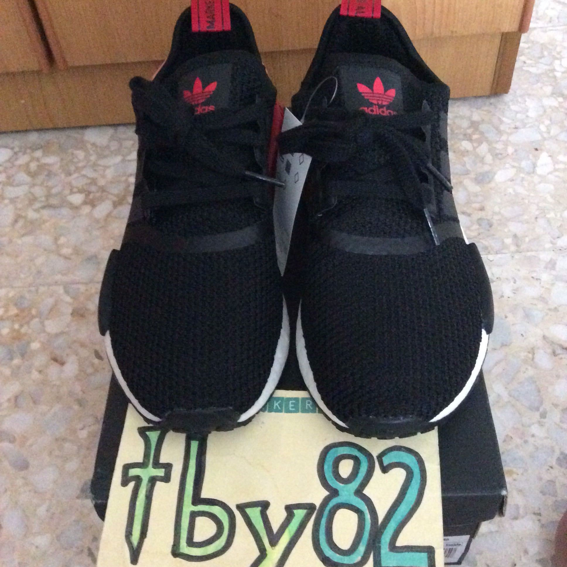 64aa247f38971 (PO) Exclusive Adidas Womens NMD R1 Black Rose Red