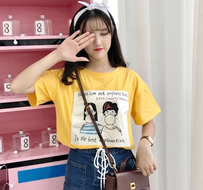 00dd709b7 po] tumblr harajuku ulzzang graphic tee, Women's Fashion, Clothes ...
