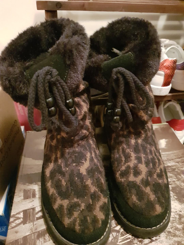 Skecher boots leopard color