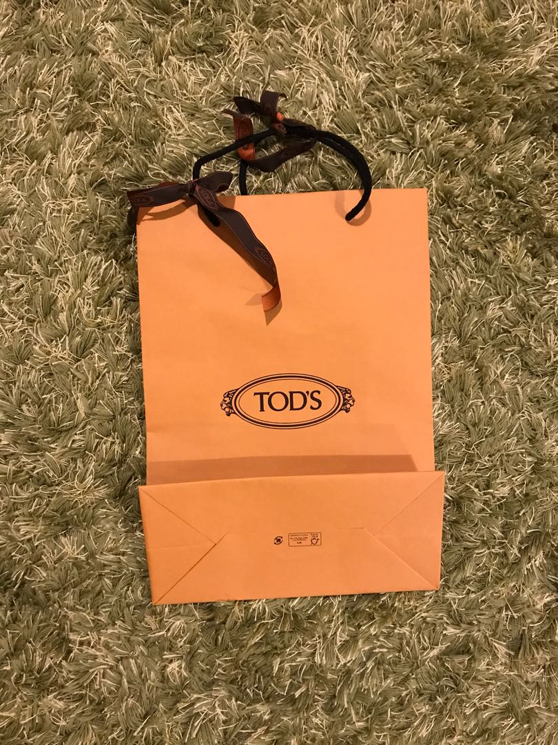 954d470bcc5 Tod's paper bag, Luxury, Accessories, Others on Carousell