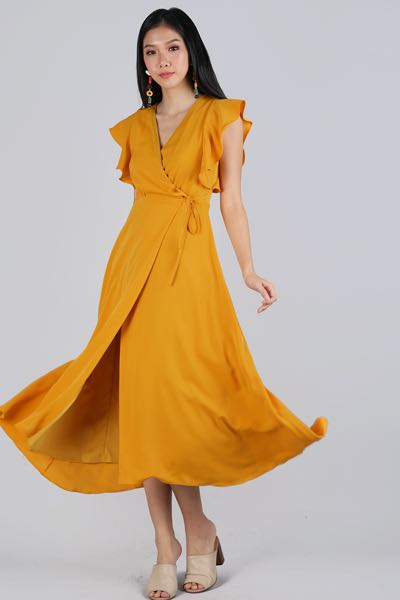 83e732396d TTR JUDITH WRAP FRONT MAXI DRESS (MANGO), Women's Fashion, Clothes, Dresses  & Skirts on Carousell