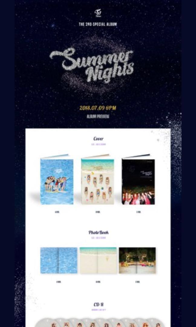 TWICE THE 2ND SPECIAL ALBUM 'Summer Nights' PRE-ORDER (VERSION C)