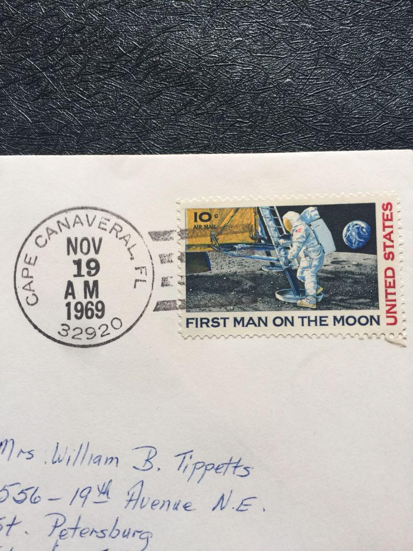 US 1969 Apollo 12 2nd Moon Landing Space Cover stamp