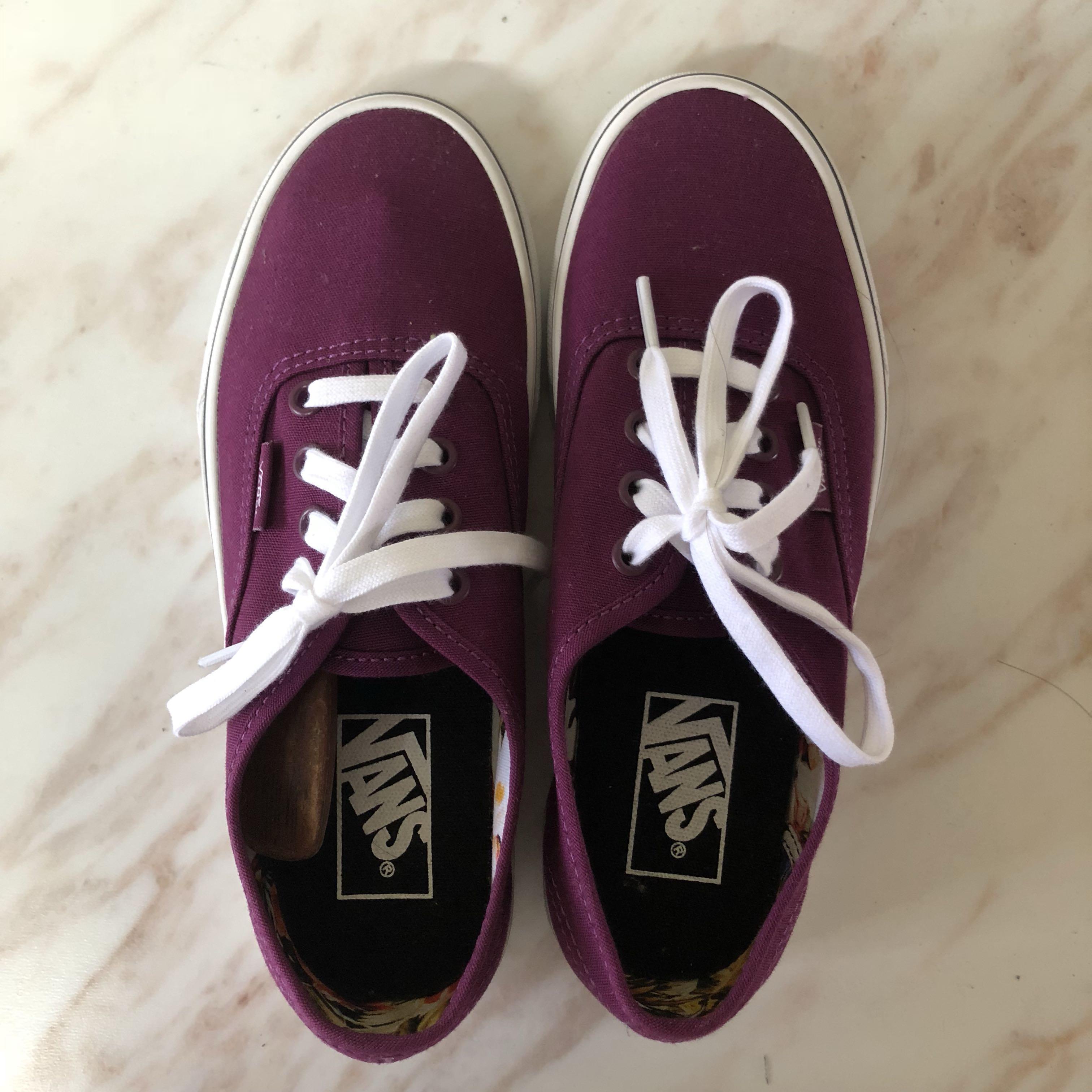 851a58871684 VANS Purple Cuban Floral Canvas Shoes (US 6 EUR 36)