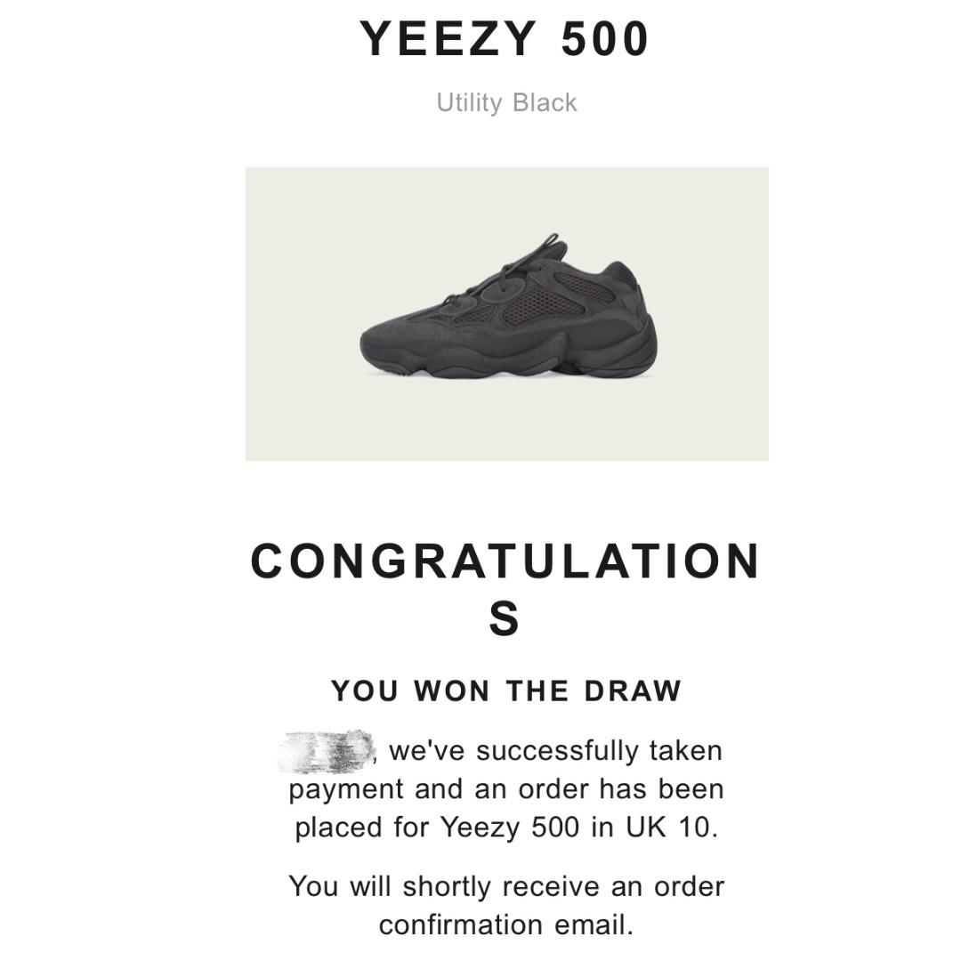 check out bac12 004f0 Yeezy 500 Black UK10=US10.5, Men's Fashion, Footwear ...