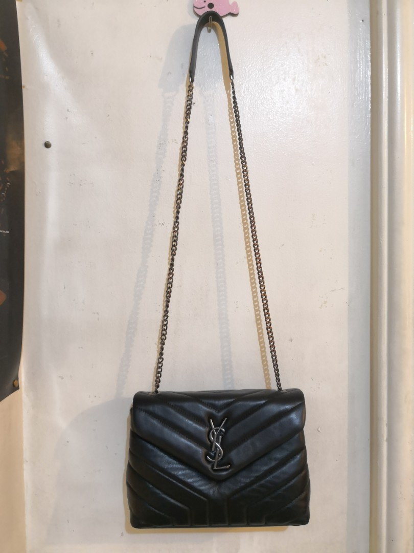 27f6bcce0b79 YSL Chevron Chain Bag