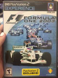 PS2 F1 2003 game