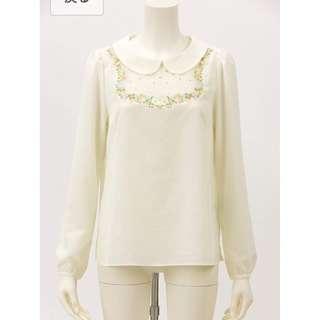 Franche Lippee Cherir la Femme 天鵝 金線刺繡 上衣