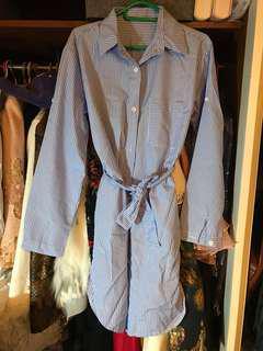 🆕Stylish Stripes Long shirt Korea , 型仔間條長身恤衫
