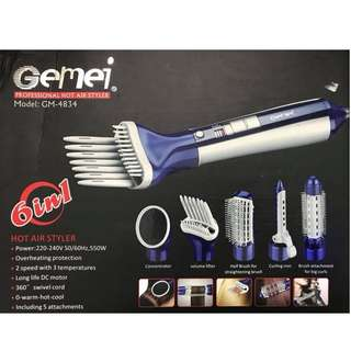 🔥 Gemei Professional Hot Air Styler 6in1 Attachment