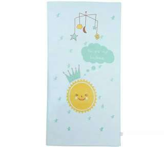 Kuma Kuma Baby Towel - Sunshine Blue