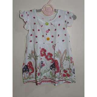 Printed dress for baby girls