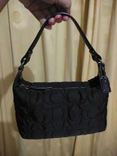 Coach Quilted Mini Black Bag