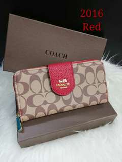 Coach Ladies Wallet Red Color