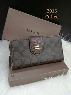 Coach Ladies Wallet Coffee Color