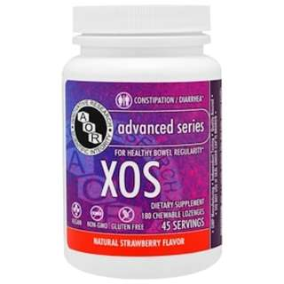 SALE Advanced Orthomolecular Research AOR, XOS, Natural Strawberry Flavor, 180 Chewables