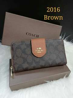 Coach Ladies Wallet Brown