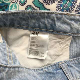 H&M Ripped Short Jeans