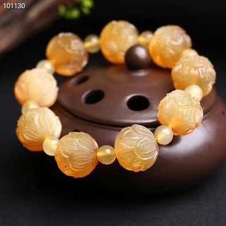 Authentic Tibetan antelope horn lotus bracelet 20mm