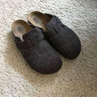 Birkenstock wool clogs