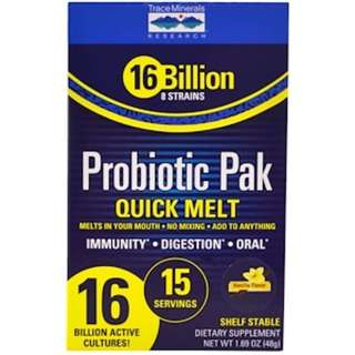Trace Minerals Research, Probiotic Pak, Quick Melt, Vanilla, 15 Stick Packs, 1.69 oz (48 g)