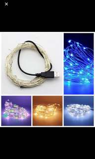 USB Sliver fairylights