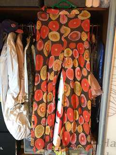 Europe style chiffon pattern pants 超靚花紋雪紡喇叭褲
