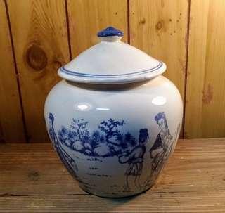 陶瓷青花茶倉(茶葉甕)—古物舊貨、早期民藝收藏