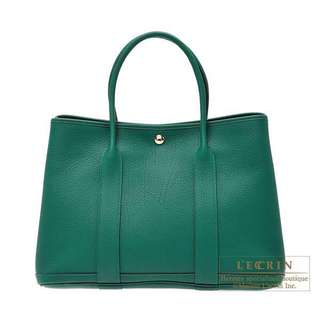 Hermes Garden Party 36 in dark green (with receipt) Hermes GP 36 手袋深綠色(有單)
