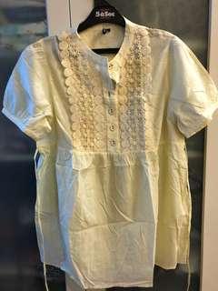 Topshop yellow blouse