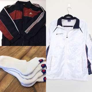 BUNDLE! Authentic Champion & Adidas Track Jacket