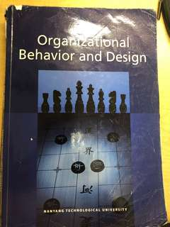 AB1601 Organisational Behaviour and Design