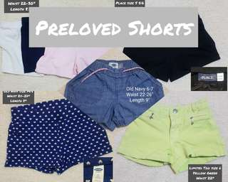 Preloved Girls Shorts