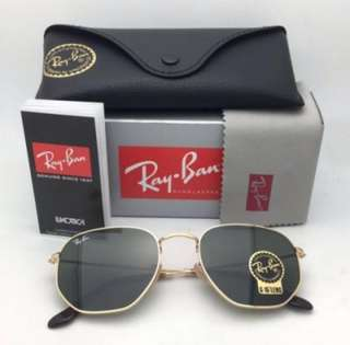 Ray Ban Hexagonal Flat Green Classic G-15 Sunglasses