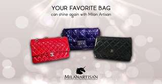 YOUR FAVOURITE BELOVED BAG CAN SHINE AGAIN WITH MILAN ARTISAN !!!!
