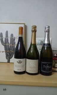 香檳+葡萄酒(3支)