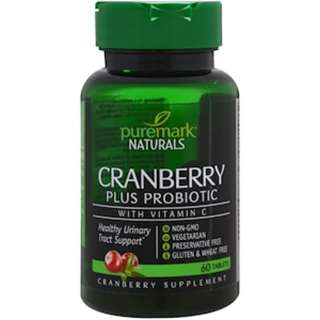 PureMark Naturals, Cranberry Plus Probiotic, 60 Tablets
