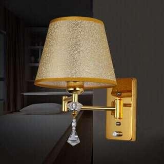Gold hotel like bedside lamp