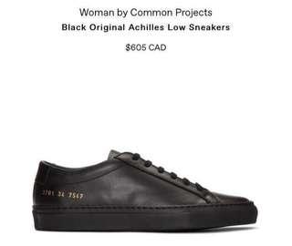 Black Common Projects: Achilles Low