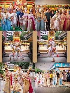Thai dance,blessing,pray,performance