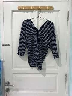 Striped navy blouse