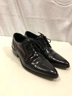 🚚 Massimo Dutti | 黑色牛津鞋38號 | 二手