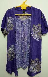 Batik ungu XL