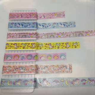 Unicorn Washi Tape Set